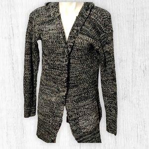 Long Sleeve Black and White Cardigan